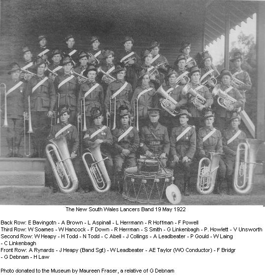 The Lancers' Band 1922