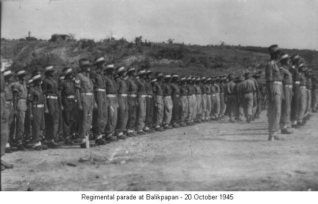 Regimental Parade 20 October 1945