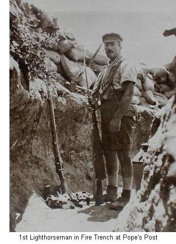 1st Lighthorseman in a Fire Trench at Pope's Post