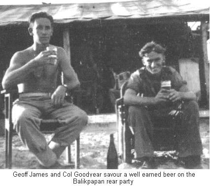 Geoff James and Col Goodyear on the Balikpappan Rear Party