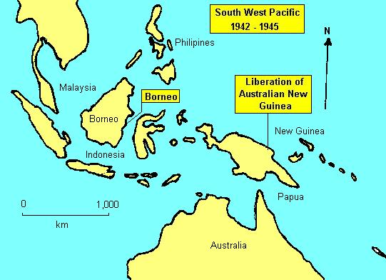 Location Map South West Pacific - West pacific islands map 1998