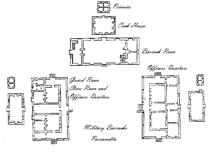 Original Paln of Lancer Barracks - 1820