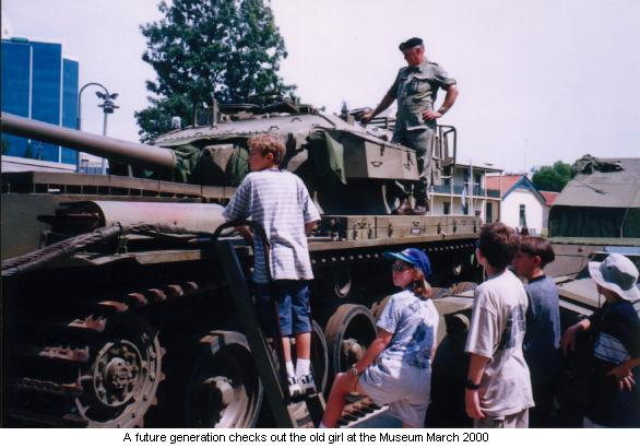 Kids check out the Centurion