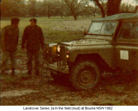 Landrover at Bourke 1982
