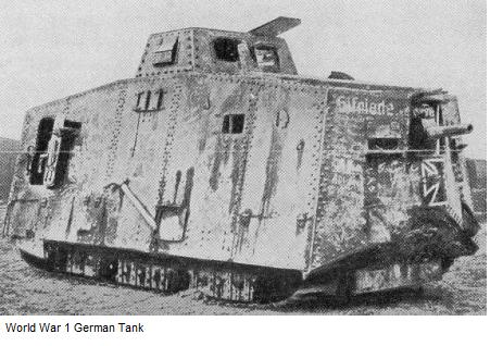 World War 1 German Tank
