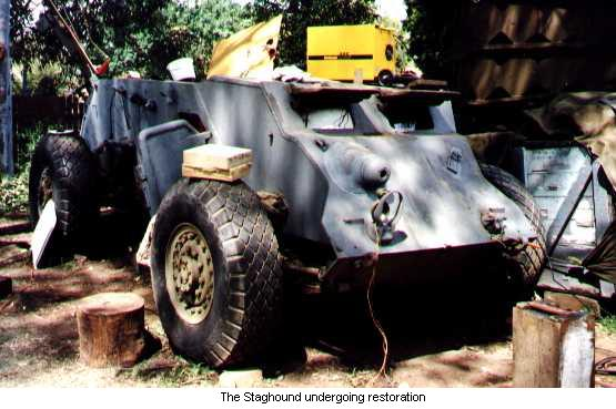 The Staghound undergoing restoration