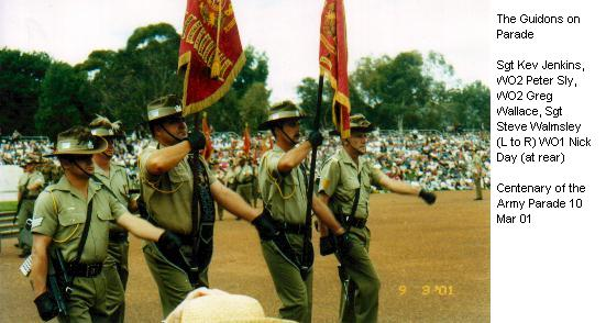 The Guidons on Parade