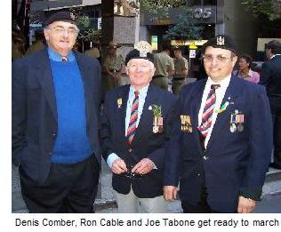 Dennis Ron and Joe at Anzac Day 2004