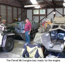 Ferret Mk2 Engine Bay