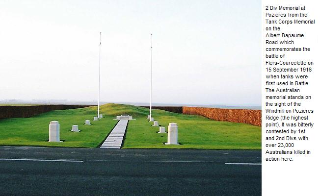 2 Div Memorial at Pozieres