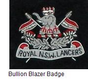 Bullion Blazer Badge