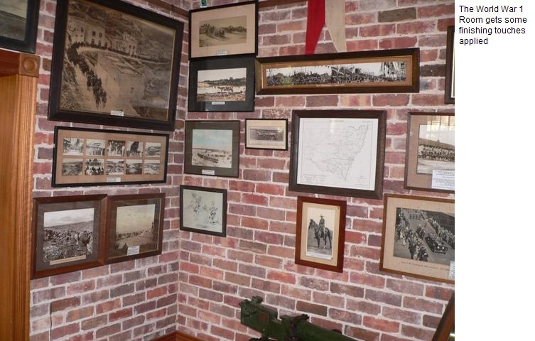 World War 1 room gets some finishing touches
