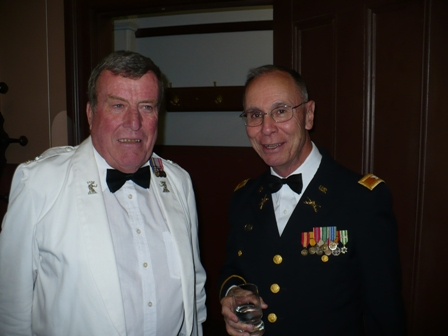 Mick Lewins and Ken Studeris at the Regimental Dinner