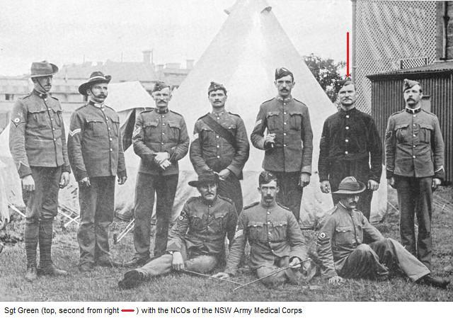 Sergeant Green with NCOs of the NSW Medical Corps