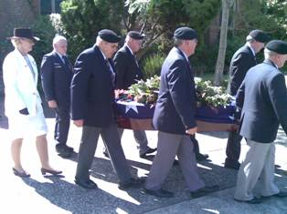Lancers at David Brown's funeral