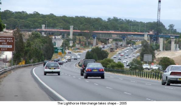 The Lighthorse Interchange takes shape - 2005