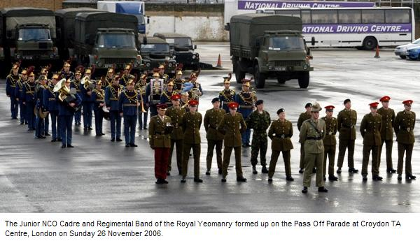 Pass Off Parade Junior NCO Cadre Royal Yeomanry