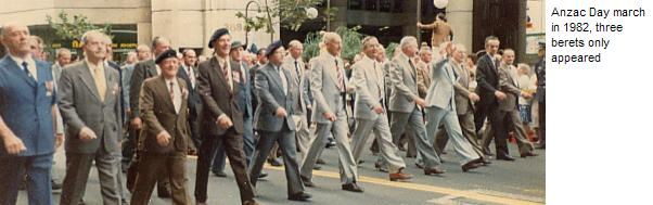 The Assoiation Marches at Anzac Day 1982